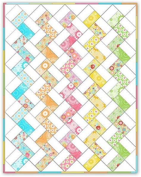 Easy Zig Zag Quilt Pattern by Quilt Zig Zag Hecho Con Rect 225 Ngulos Quilting