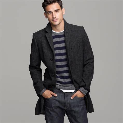 Josephpants With Wool j crew mayfair wool herringbone topcoat in gray for lyst