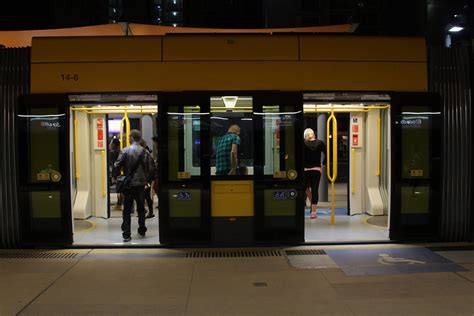 doors gold coast south doors open on both sides of the tram at broadbeach south