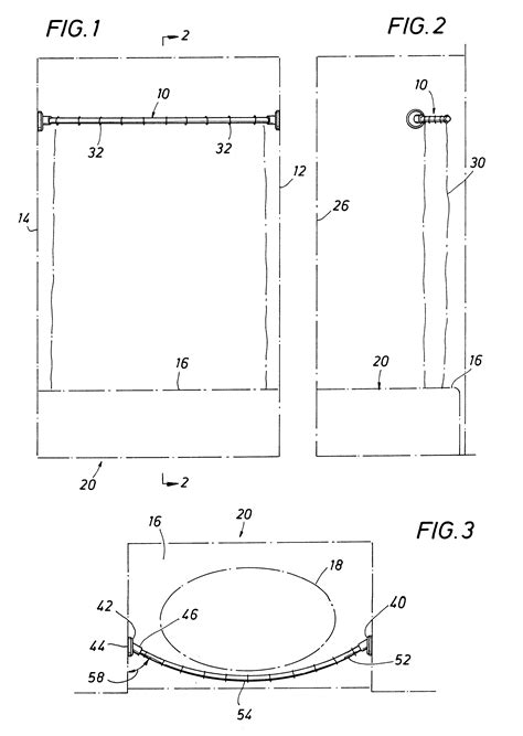 standard height for shower curtain rod patent us6216287 shower curtain rod google patents