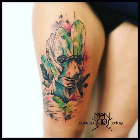 watercolor groot tattoo best tattoo ideas gallery