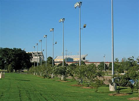 light poles in la sports lighting poles and stadium lighting towers