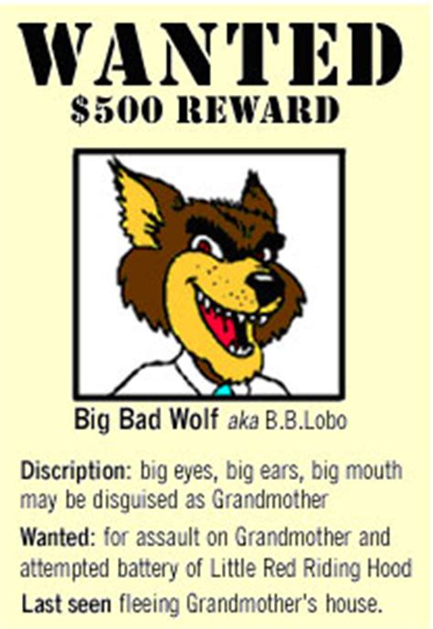 printable wanted poster for the big bad wolf nhs designs graphic design layout principles
