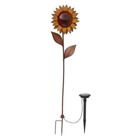 Trendscape Solar Lights Hton Bay Bronze Solar Led Sunflower Nxt 8067 The Home