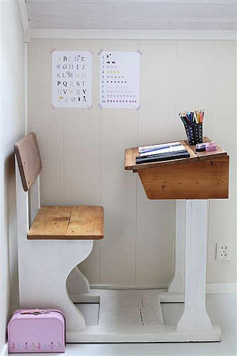 Small Child Desk 12 Awesome Workspaces With Vintage Touch House Design And Decor