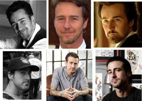 edward norton tattoos 88 best lookalikes images on time