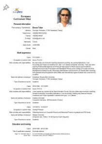 Curriculum Vitae Europass Cv Newhairstylesformen2014 Com