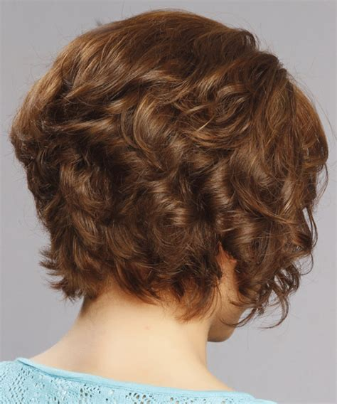 pictures of the back of curly stacked hair short curly bob hairstyles back view