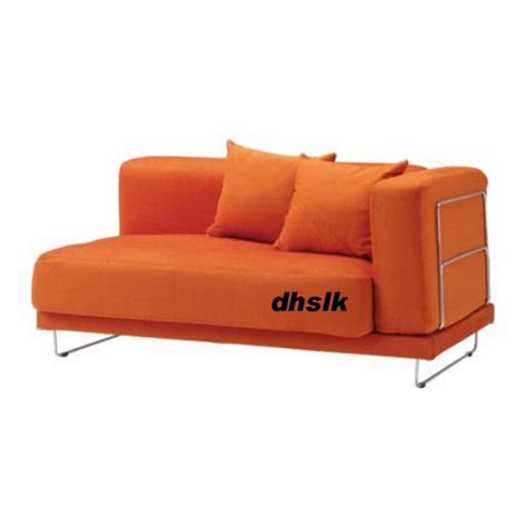 orange slipcovers ikea tylosand 2 seat 1 arm sofa cover everod orange