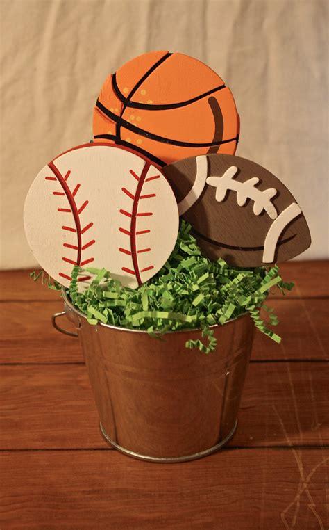sports centerpiece birthday party centerpiece baby shower