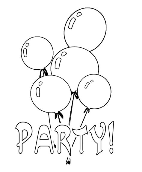 balloons coloring part 4