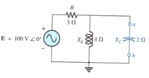 capacitor network circuit find the thevenin equivalent circuit for the porti chegg