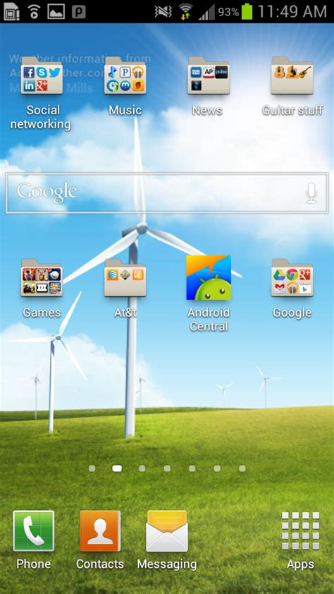 how to replace icons on the home screen dock on the galaxy