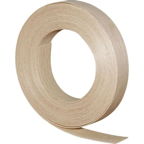 3 4 in x 25 ft white iron on edge tape 274431 the home depot