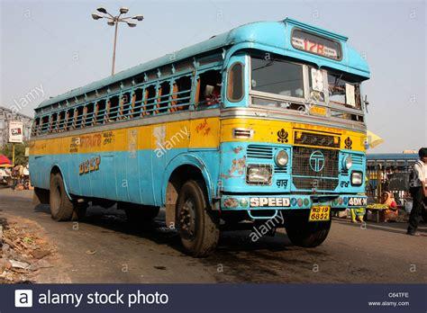 local city bus  howrah bridge kolkata india stock photo  alamy