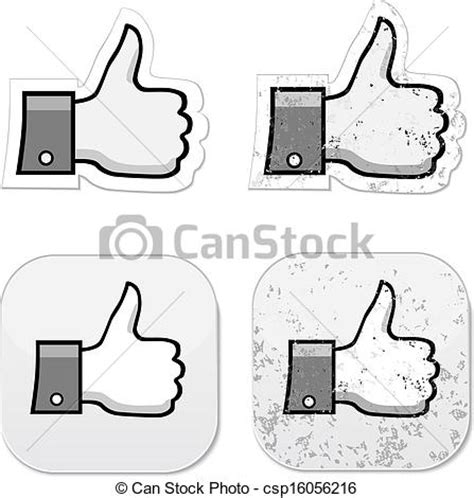 like drawing vector clip of like it grunge button like