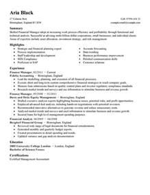 best finance manager resume exle livecareer