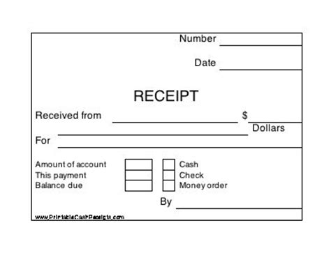 self business check receipt template four conveniently sized rectangular receipts appear