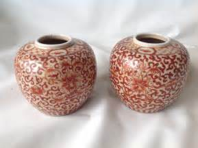 ginger vase 2 chinese iron red ginger jar vase vases pottery porcelain