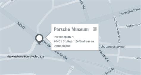 Porsche Museum Stuttgart Parken by Adresse Porsche Museum Anfahrt Und Anschrift Zum Porsche