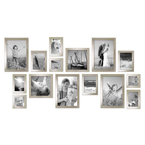 moderne bilderrahmen 15er set bilderrahmen modern silber massivholz 10x15 bis