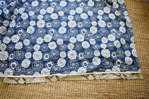 how to cover an ottoman with fabric no sew slip cover for an ottoman gratefully vintage