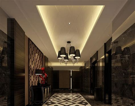 Ceiling And Lighting Design Elevator Waiting Ceiling And Lighting Design