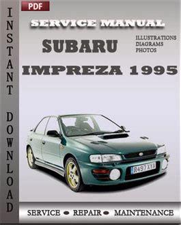 free online auto service manuals 1995 subaru impreza subaru impreza 1995 free download pdf repair service manual pdf