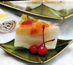 membuat hiasan puding resep puding isi aneka buah resep sederhana untuk