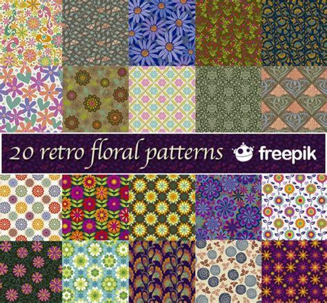 download pattern freepik 20 retro floral patterns freepik vector free download