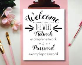Guest Bedroom Wifi Sign Wifi Sign Etsy