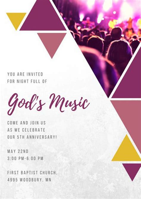 event invitation card template 8 church invitation templates free sle exle