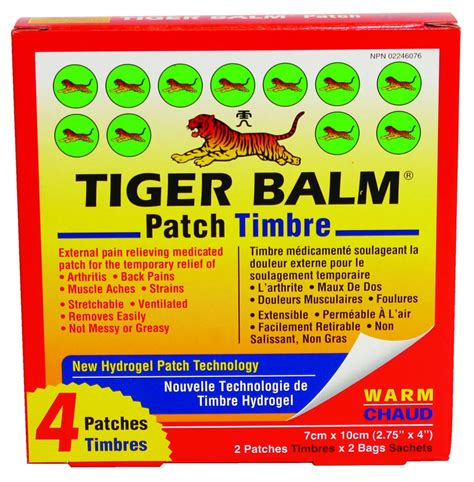 buy tiger balm warm patch 4 pack from value valet