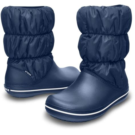 crocs womens winter puff boot navy navy puffed boots for