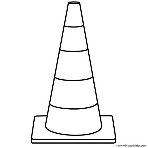 safety cone coloring page labor day