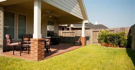 porch add  gable roof brick column bases