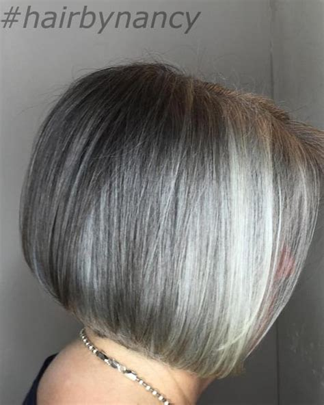 platinum hair with dark highlights for women60 years old 60 gorgeous hairstyles for gray hair
