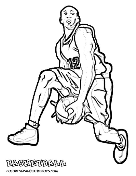 Nba Players Coloring Pages big basketball coloring pictures basketball players