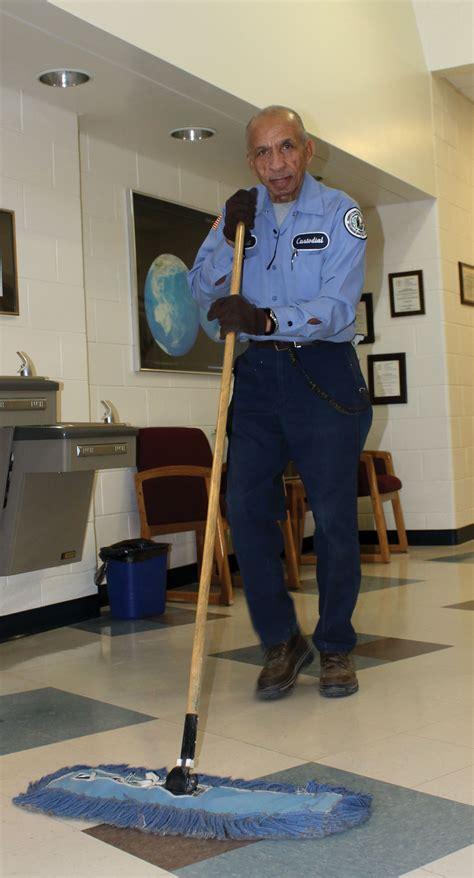 custodian keeps building 9 clean blue s advocate
