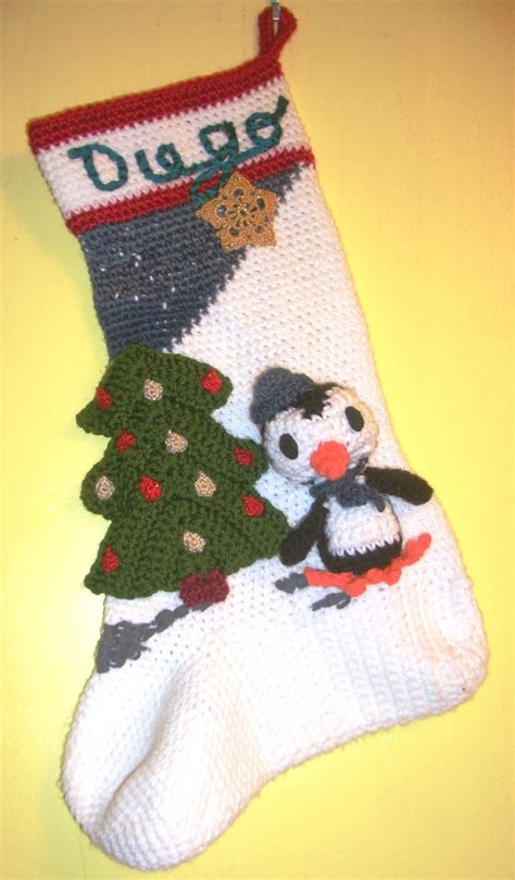 free pattern for christmas stocking crochet crochet parfait amigurumi penguin christmas stocking
