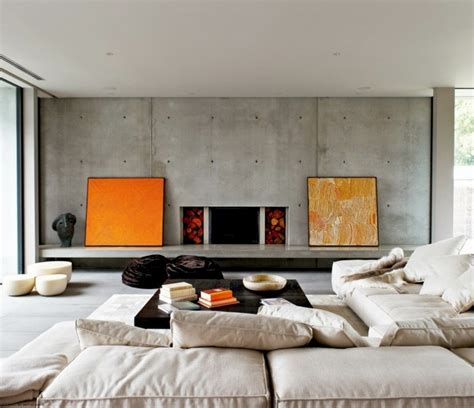 moderne wohneinrichtung wohneinrichtung ideen mit wandverkleidung aus beton und