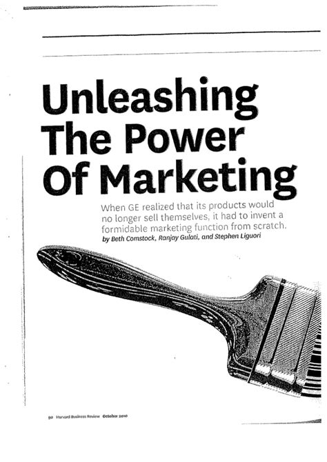 unleashing the power of unleashing the power of marketing