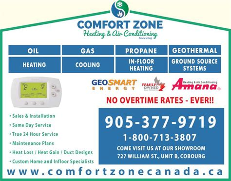 comfort zone air conditioning comfort zone heating air conditioning cobourg on