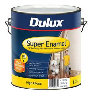 dulux enamel 4l high gloss white enamel paint