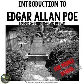 edgar allan poe biography project 33094 best middle school junior high teaching tools images