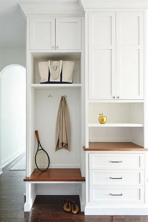 small mudroom bench beautiful mudroom features built in cabinets fitted with a