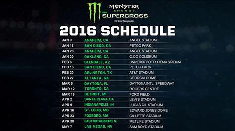 2015 ama motocross schedule 2016 energy supercross schedule released moto