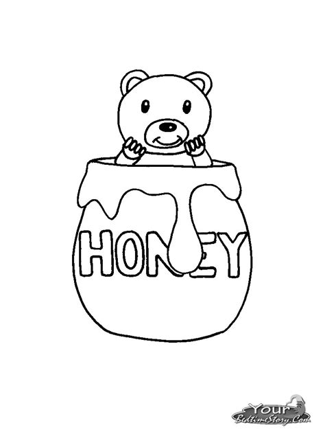 honey jar coloring pages
