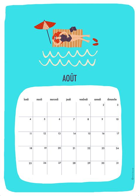 Calendrier Juillet Aout 2014 Hello Ao 219 T Free Printable Minireyve
