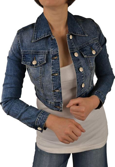 Jaket Crop Cropped Denim Jacket Fashionhdpics